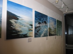 Paintings in the exhibition space