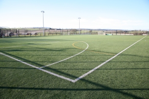All weather football pitch